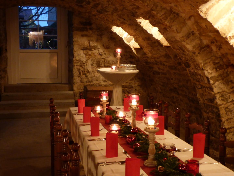 Weihnachtsfeier bei Würzburg