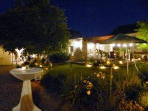 Abendstimmung in der Eventlocation Landhaus Odaia