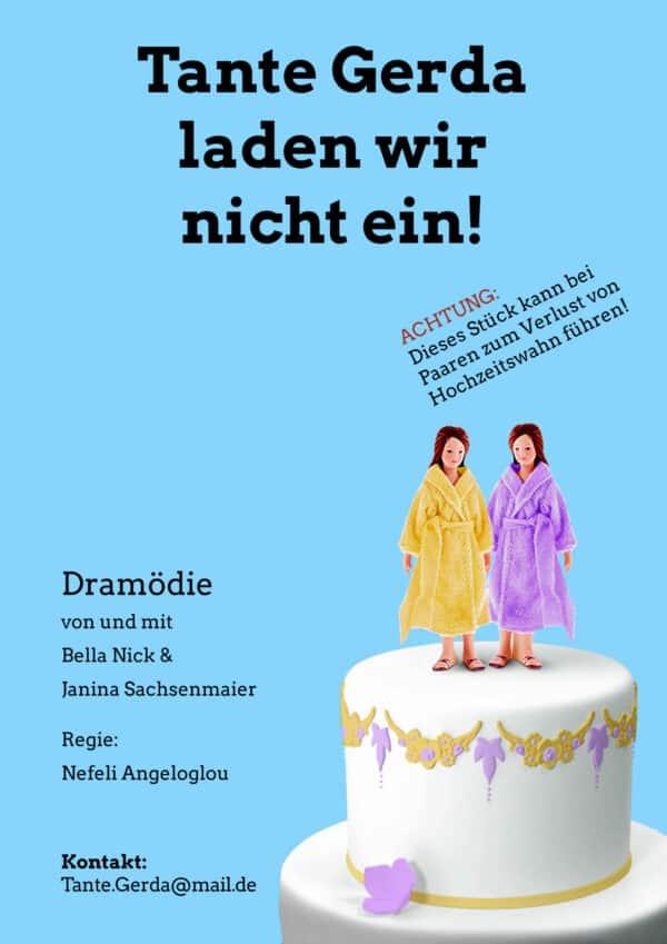 Plakat Tante Gerda laden wir nicht ein